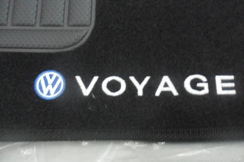 jogo de tapete personalizado bordado vw voyage