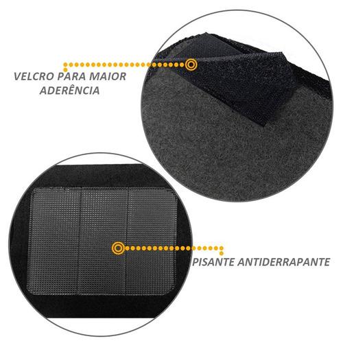 jogo de tapete peugeot 307 09 10 11 12 carpete preto 5 peças