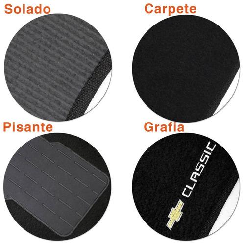 jogo de tapetes carpete corsa classic 03 a 16 preto 5 peças