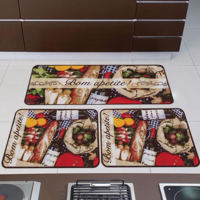 9ebf27138 jogo de tapetes de cozinha gourmet norte 3 peças. Carregando zoom.