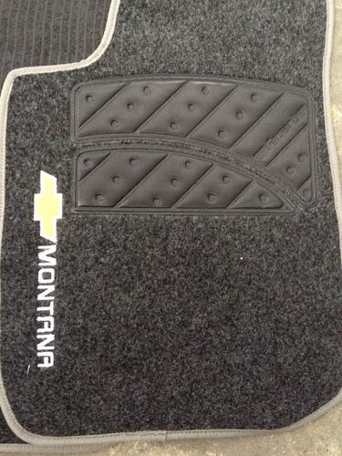 jogo de tapetes montana carpete com logo e modelo bordados