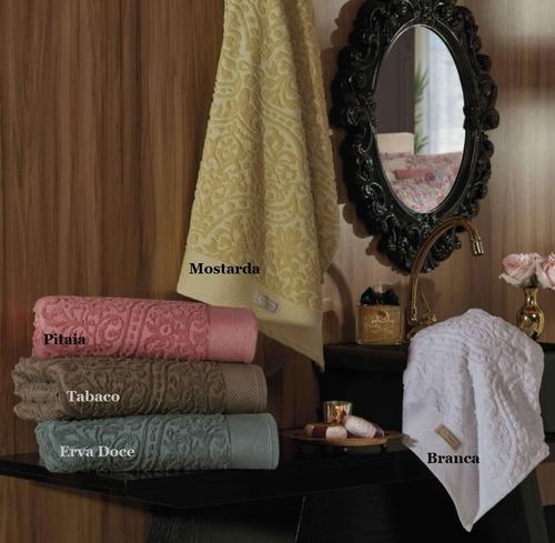 jogo de toalhas banho marrocos 5 peças jacquard 470gr/m2