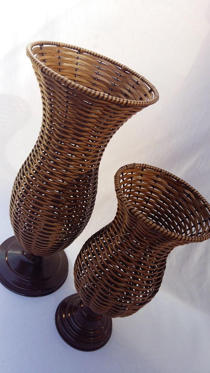 Enfeite De Vaso ~ Jogo De Vasos Em Junco Decoraç u00e3o Arranjo Enfeite Casamento