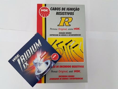 jogo de vela ngk iridium + cabos ngk gol 1.0 mi 8v at 1997..