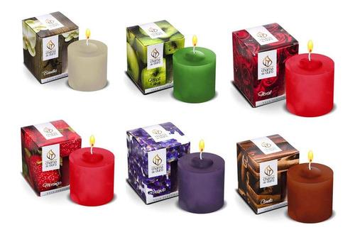 jogo de velas perfumadas aromatizadas 60g kit com 6 peças