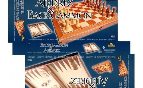 jogo de  xadrez e peças de madeira gamão marca  bison
