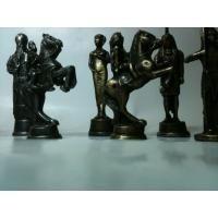 jogo de xadrez em madeira com tabuleiro dobrável peças em es