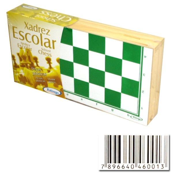 Jogo De Xadrez Escolar Peças Plásticas - Xalingo - R  70 084a73b085a2f
