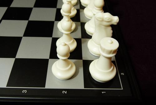 jogo de xadrez estojo imantado modelo clássico com damas
