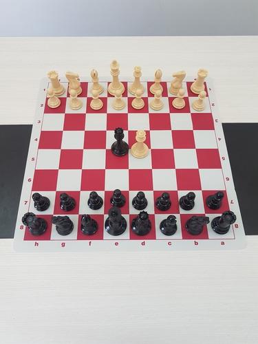 jogo de xadrez - peso quádruplo com tabuleiro de silicone