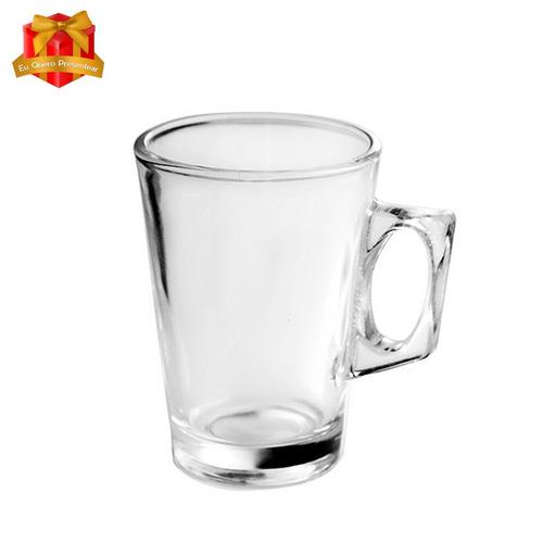 jogo de xicara de vidro 250 ml cappuccino cafe nespresso