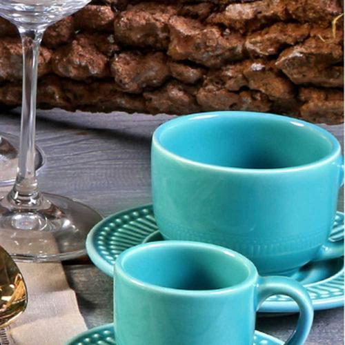 jogo de xícaras de chá roma azul poppy porto brasil 6 un