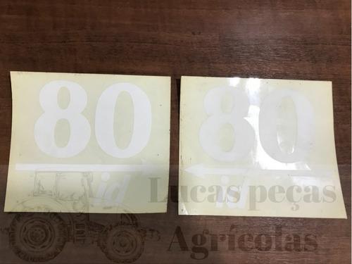 jogo decalque adesivo de lataria trator valmet 80 id