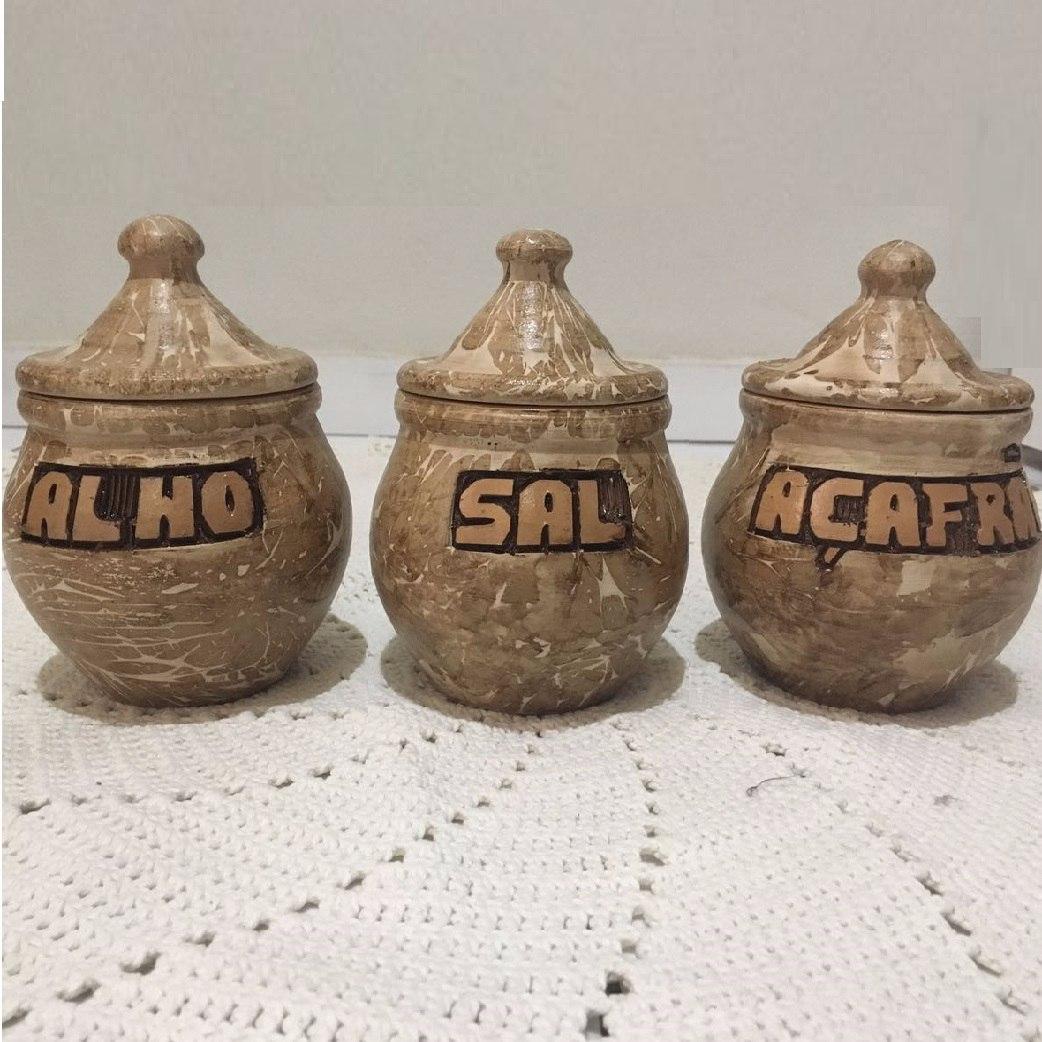 Jogo De Cozinha Potes E Porta Temperos No Mercado Livre Brasil ~ Potes Decorativos Para Cozinha