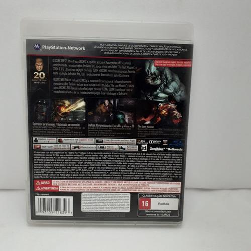 jogo doom 3 bfg edition ps3 original