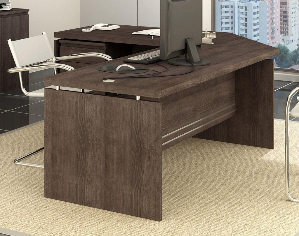 Jogo escrit rio kappesberg 4 pe as gaveteiro canto 2 mesas - Escritorio mesa ...