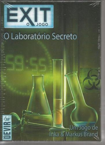 jogo exit o laboratorio secreto - devir - bonellihq l18