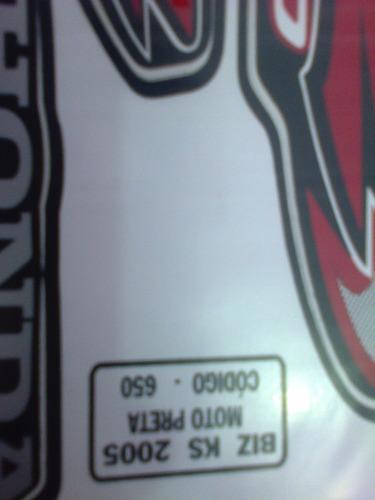 jogo faixa adesiva biz 100 ks preta 2005 completa