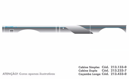 jogo faixa decorativa d20 1993 cabine longa completo q 3m