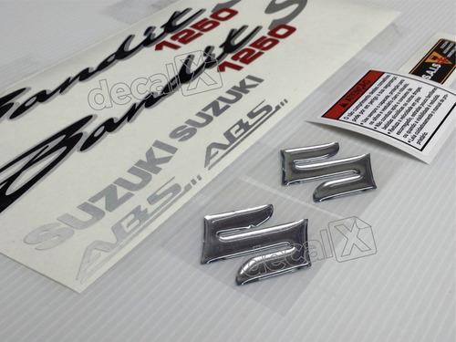 jogo faixa emblema adesivo suzuki bandit 1250s 2013 preta