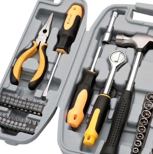 jogo ferramentas 78 peças com maleta eda