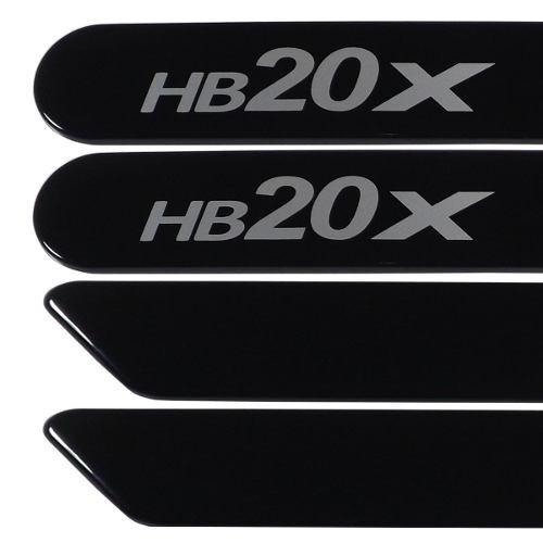 jogo friso lateral hb20x preto onix 04 peças