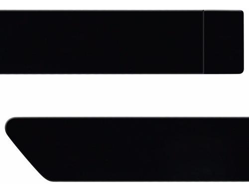 jogo friso lateral hilux 06 a 11 12 13 14 15 preto eclipse