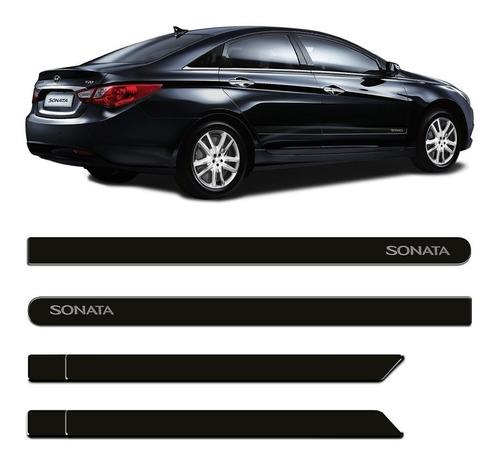 jogo friso lateral hyundai sonata preto personalizado