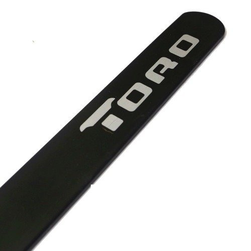 jogo friso lateral personalizado fiat toro - preto fosco
