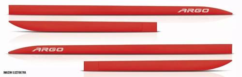 jogo friso lateral pintado fiat argo todos cor original