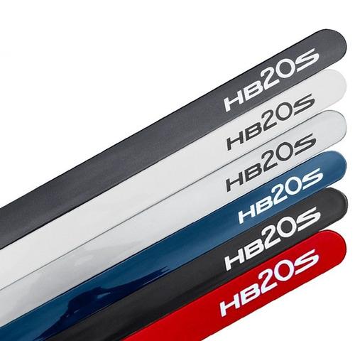 jogo friso lateral pintado hyundai hb20-s cinza titanium