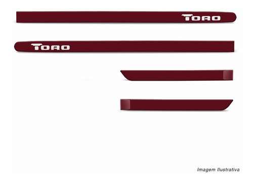 jogo friso lateral toro 16 a 19 vermelho tribal borrachão