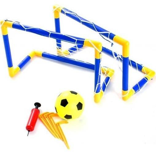 7d2d8b1d00eff Jogo Futebol Kit 2 Traves Rede Bola Bomba Beach Soccer 4881 - R  139 ...