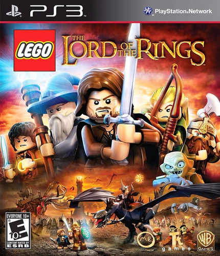 jogo game lego the lord the rings ps3