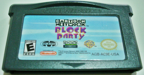 jogo gameboy block party - cartoon network