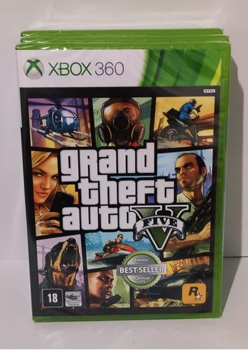 jogo gta xbox v 360 original original lacrado 2 dois discos