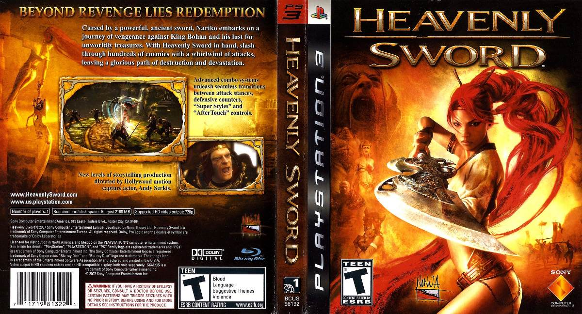 Jogo Heavenly Sword Ps3 Playstation 3 Seminovo