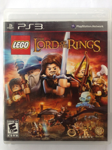 jogo infantl lego the lord of the rings ps3  fisica original