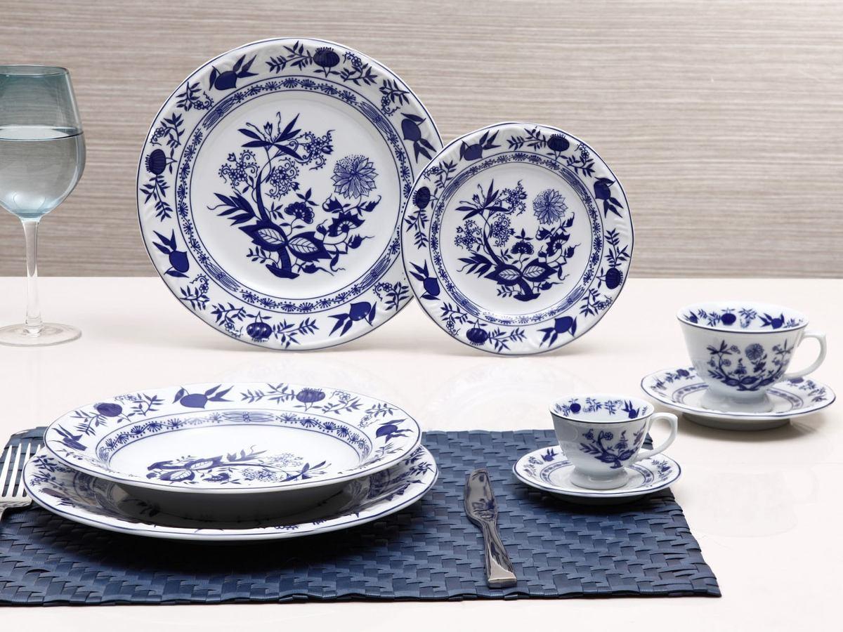 Jogo jantar ch e caf 42 pe as porcelana schmidt for Marcas de vajillas de porcelana