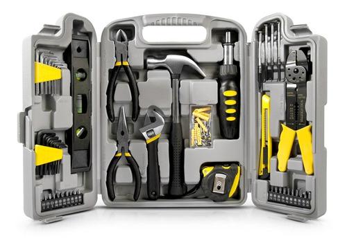 jogo kit caixa ferramentas 129 pçs estojo plastico maleta