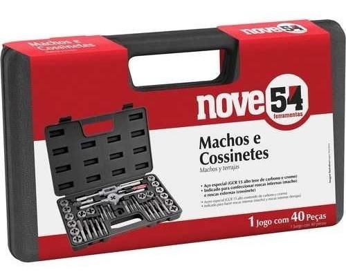 jogo kit macho e tarraxa para fazer rosca + maleta 40 peças aço especial rosca interna e externa - c/maleta