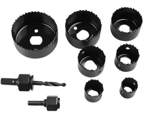 jogo kit serra copo 11 peças para madeira gesso 19 a 64mm