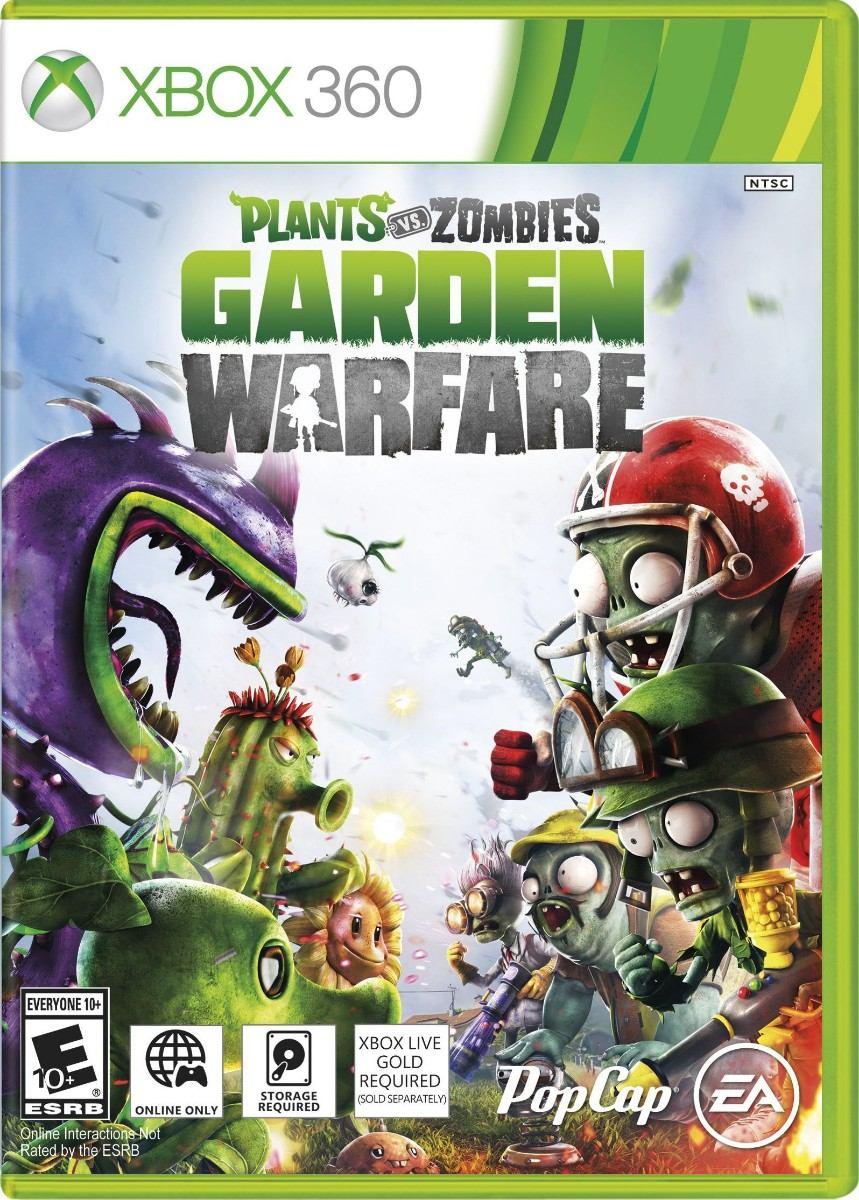 jogo lacrado plants vs zombies garden warfare para xbox 360 r 189