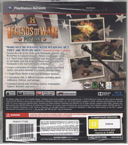 jogo legends of war ps3 midia fisica lacrado nota fiscal