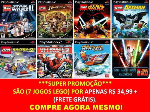 jogo lego racers 2 ps2 (kit 7 jogos playstation 2) infantil