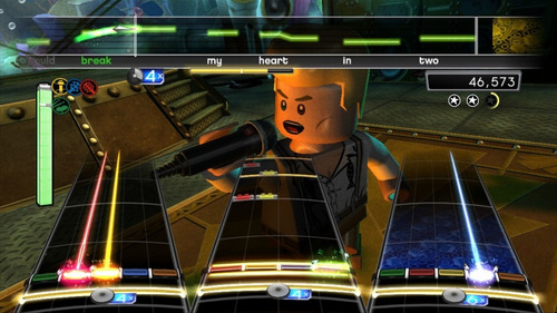 jogo lego rock band playstation 3 ps3 musica guitarra game