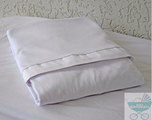 jogo lençol c/ elástico mini berço 2 pçs malha 100% algodão