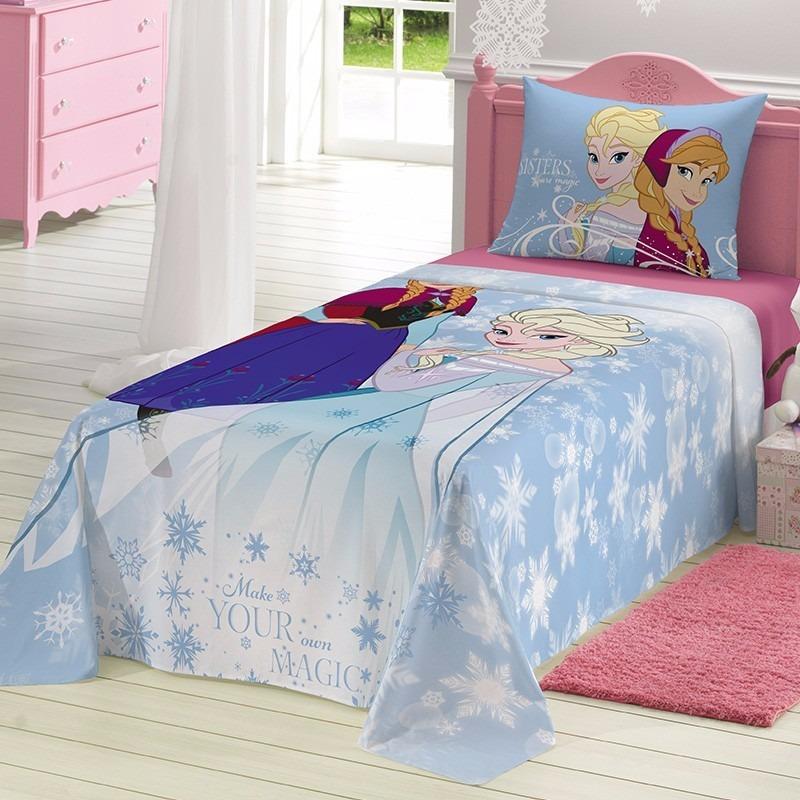 f41410c3e2 jogo lençol cama infantil frozen anna elsa 2 peças - lepper. Carregando  zoom.