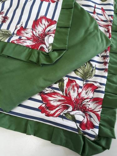 jogo lençol casal queem 3 peças 1,58x1,98x30 100% algodão