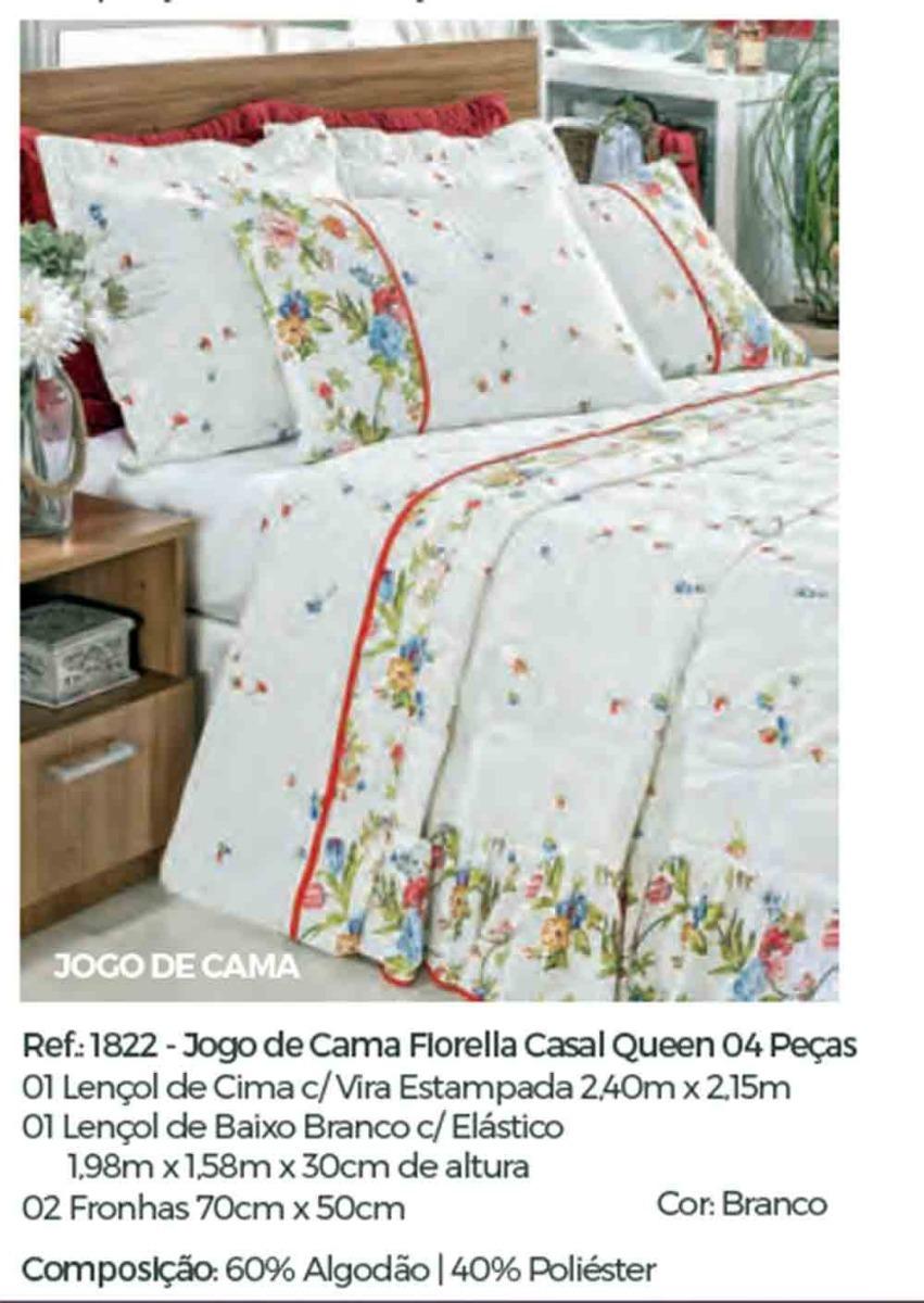 e4d321b88c jogo lençol casal queen fiorella 4 peças 160 fios. Carregando zoom.